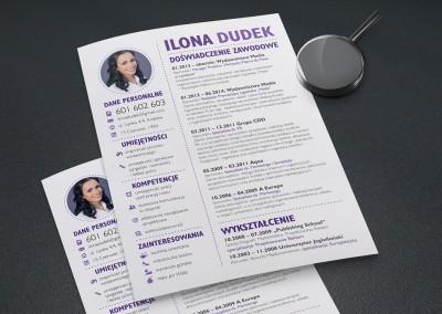 Projekt CV – Ilona