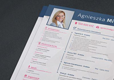 Projekt CV – Agnieszka